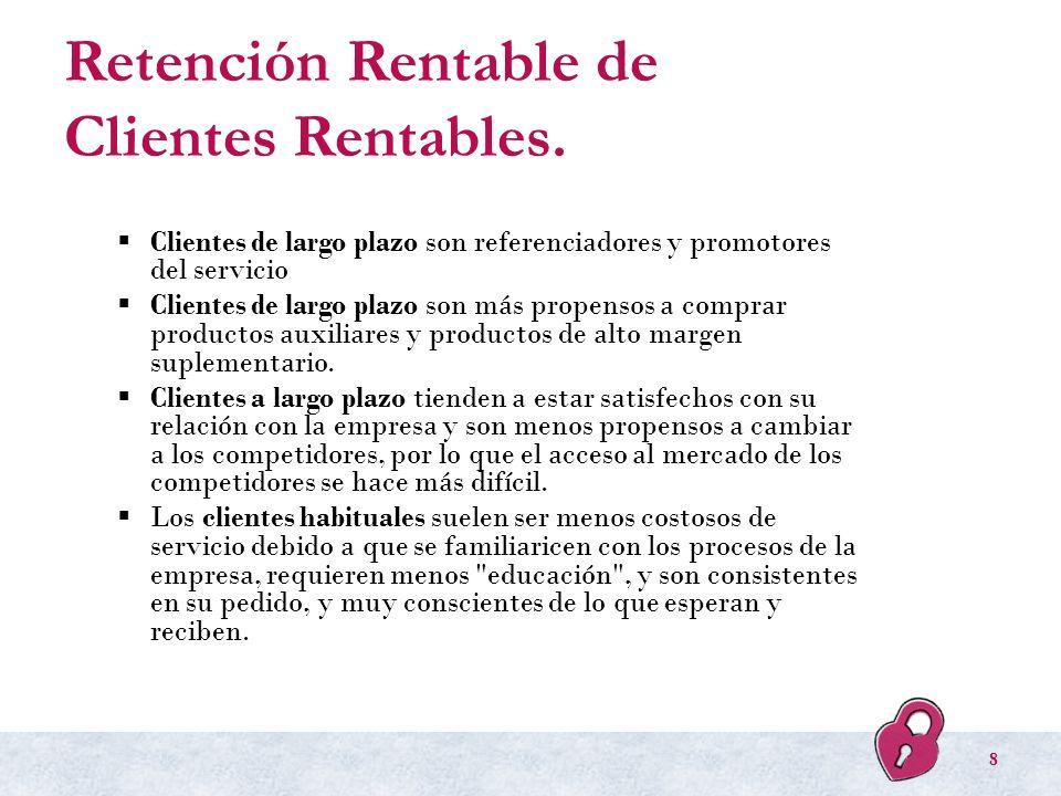 Retención Rentable de Clientes Rentables.