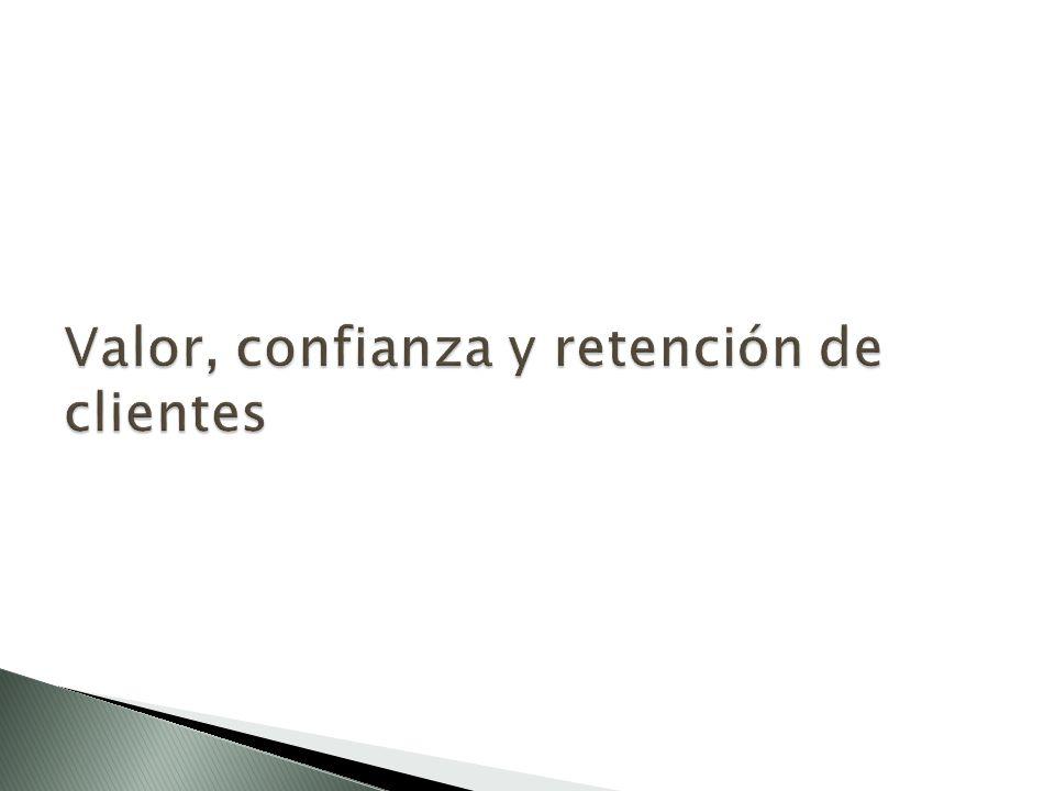 Valor, confianza y retención de clientes