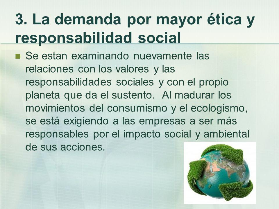 3. La demanda por mayor ética y responsabilidad social