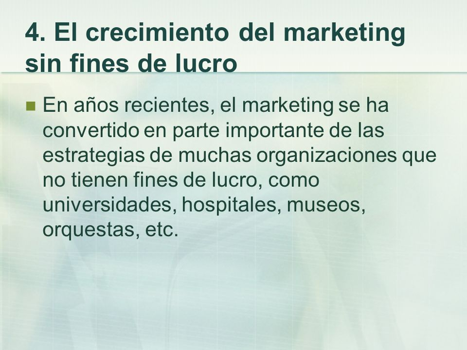 4. El crecimiento del marketing sin fines de lucro