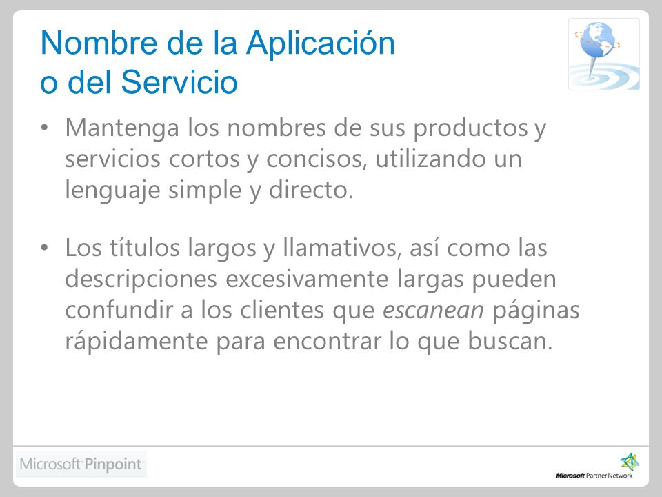 Listado de Aplicaciones o Servicios
