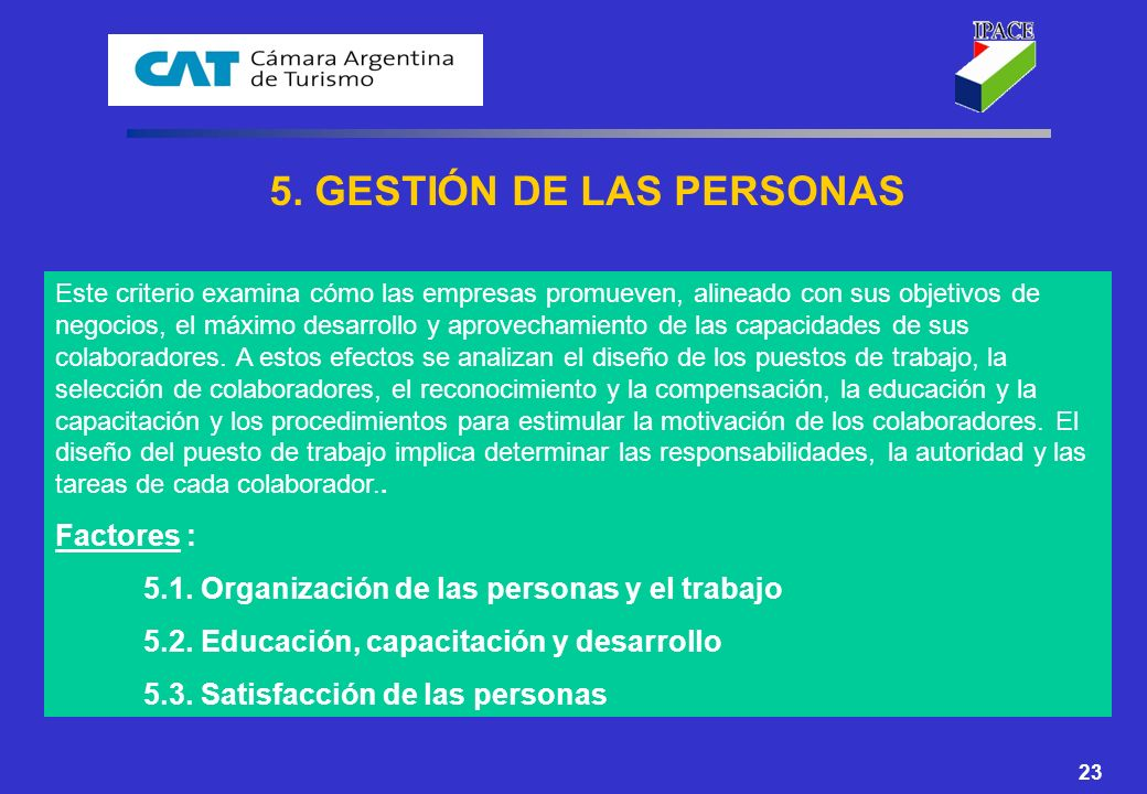5. GESTIÓN DE LAS PERSONAS