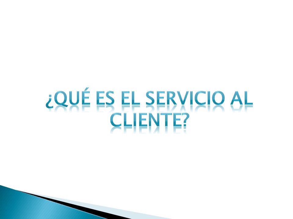 ¿Qué es el servicio al cliente