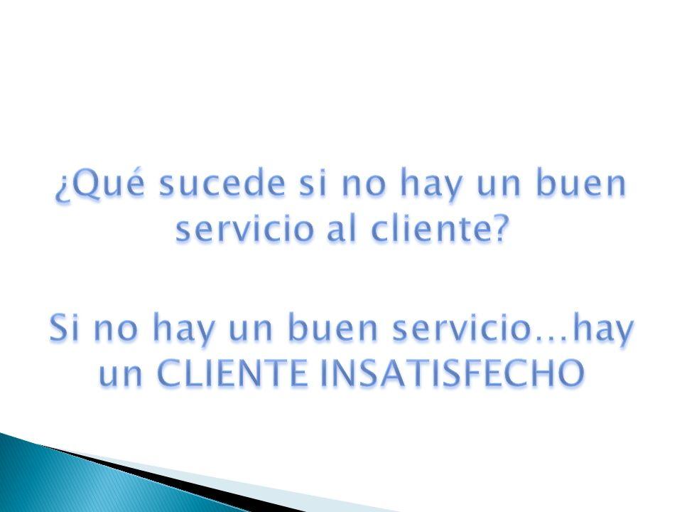 ¿Qué sucede si no hay un buen servicio al cliente