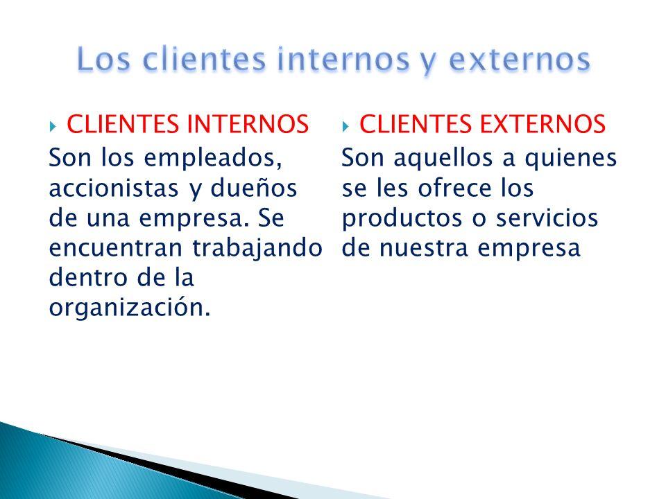 Los clientes internos y externos