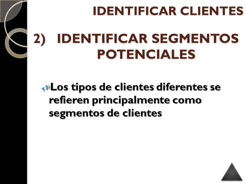 IDENTIFICAR SEGMENTOS POTENCIALES