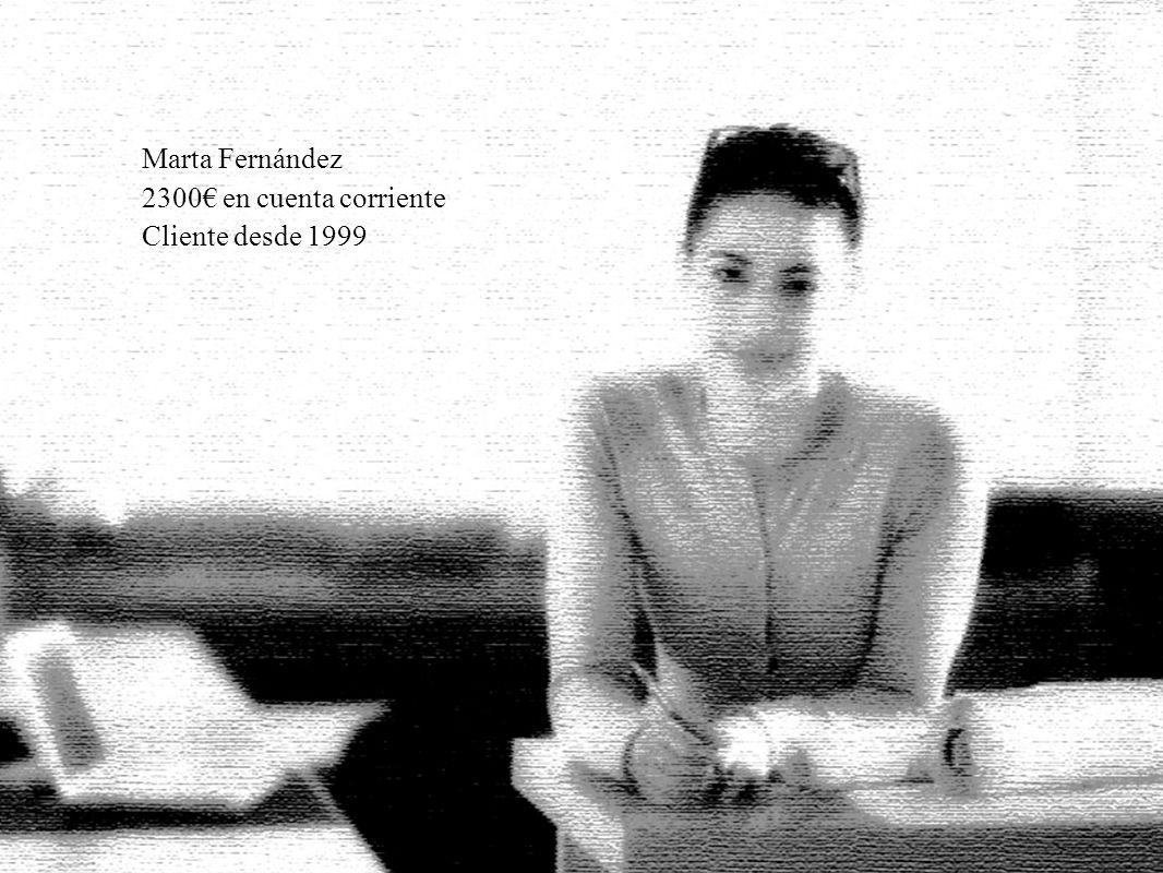 Marta Fernández 2300€ en cuenta corriente Cliente desde 1999