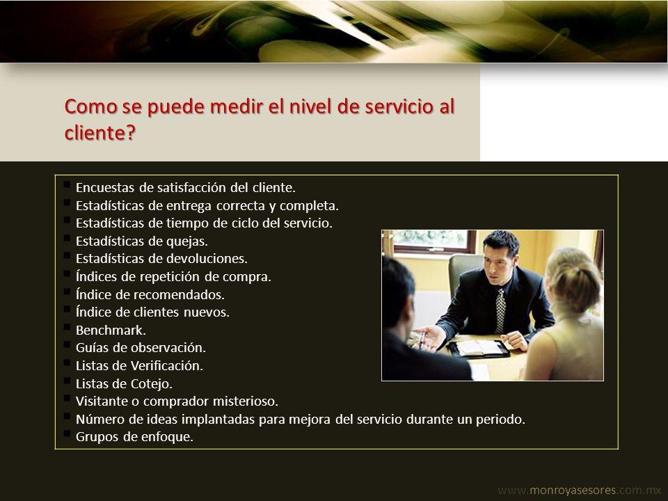 Como se puede medir el nivel de servicio al cliente