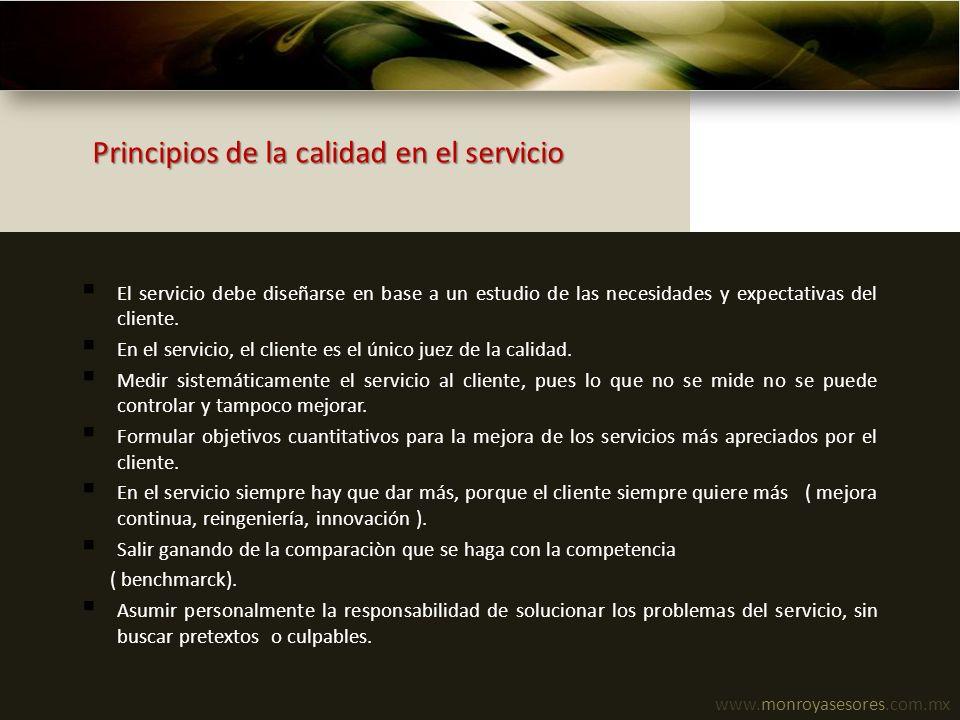 Principios de la calidad en el servicio