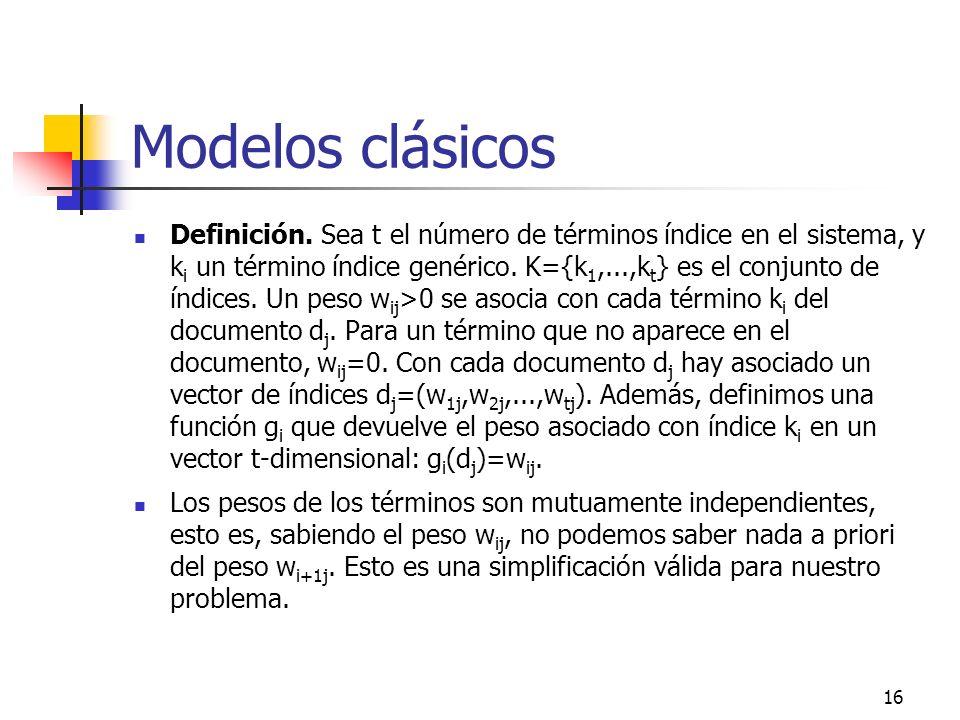 Modelos clásicos