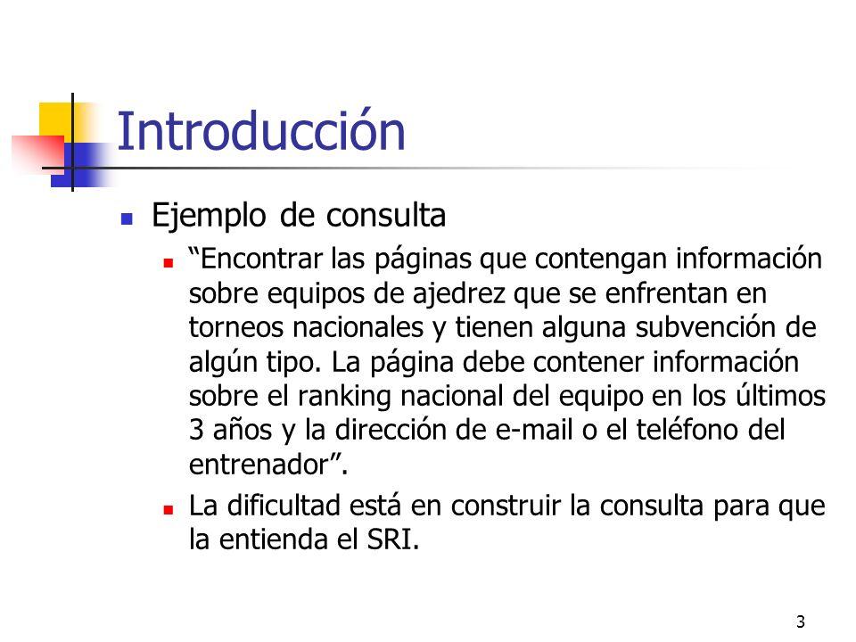 Introducción Ejemplo de consulta