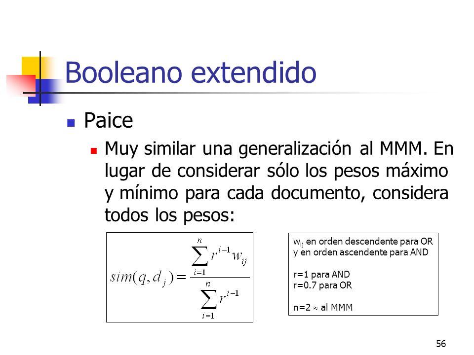 Booleano extendido Paice