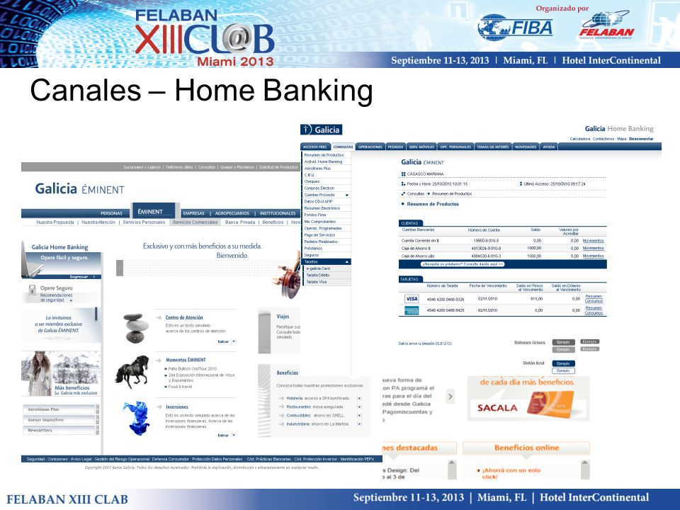 Canales – Home Banking
