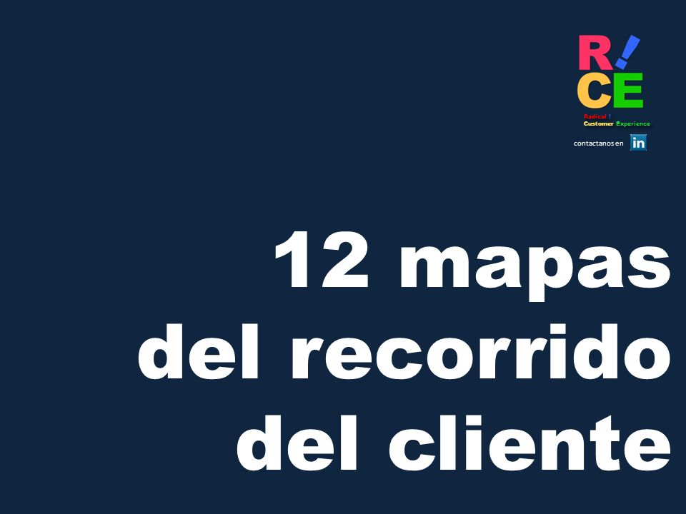 Radical ! Customer Experience contactanos en