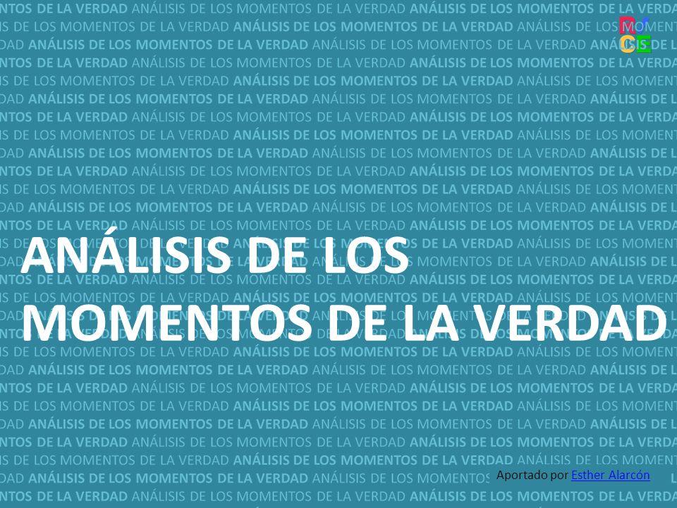 ANÁLISIS DE LOS MOMENTOS DE LA VERDAD