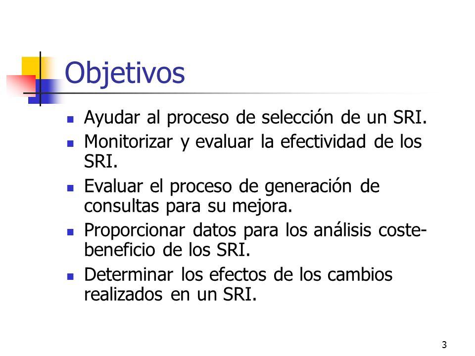Objetivos Ayudar al proceso de selección de un SRI.