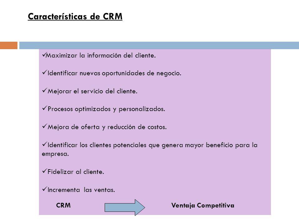 Características de CRM