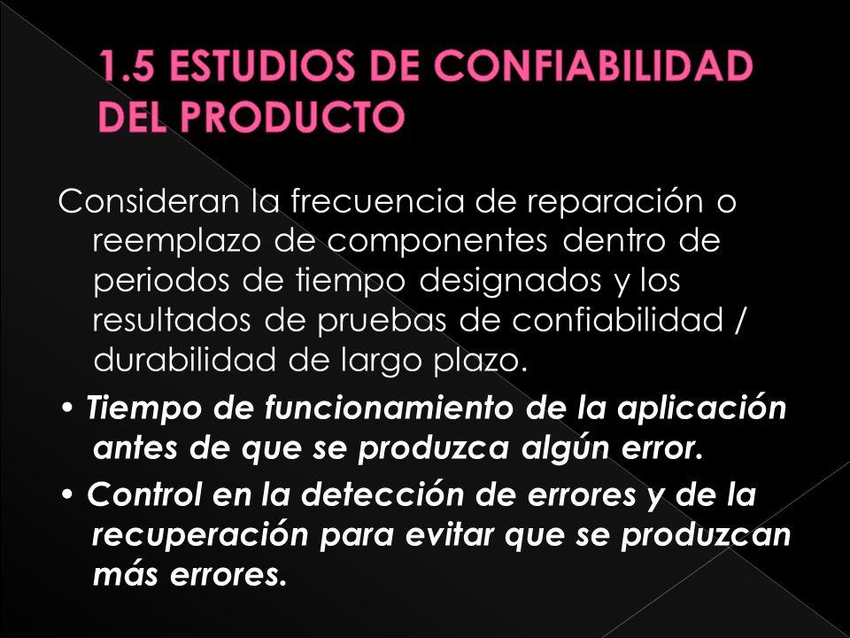 1.5 ESTUDIOS DE CONFIABILIDAD DEL PRODUCTO