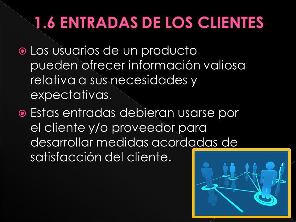 1.6 ENTRADAS DE LOS CLIENTES