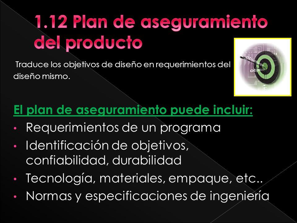 1.12 Plan de aseguramiento del producto