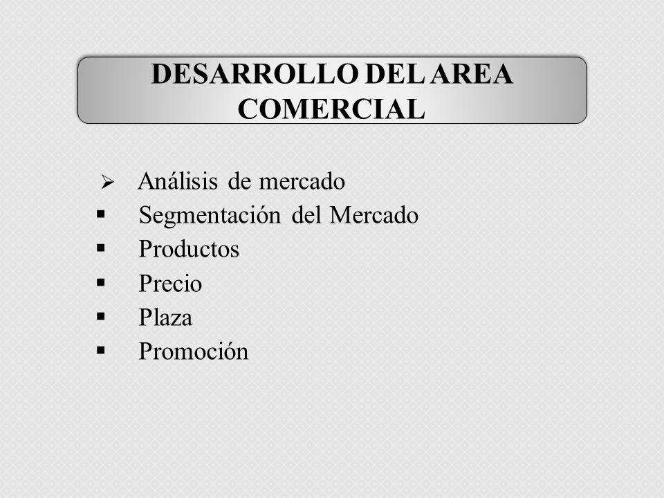 DESARROLLO DEL AREA COMERCIAL