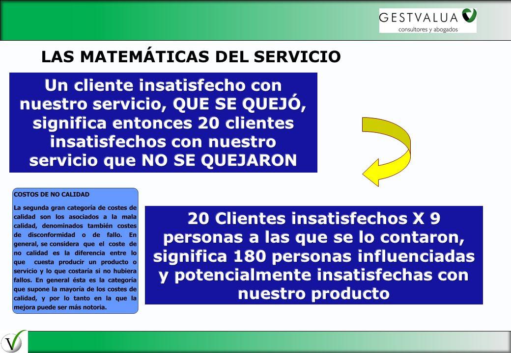 LAS MATEMÁTICAS DEL SERVICIO