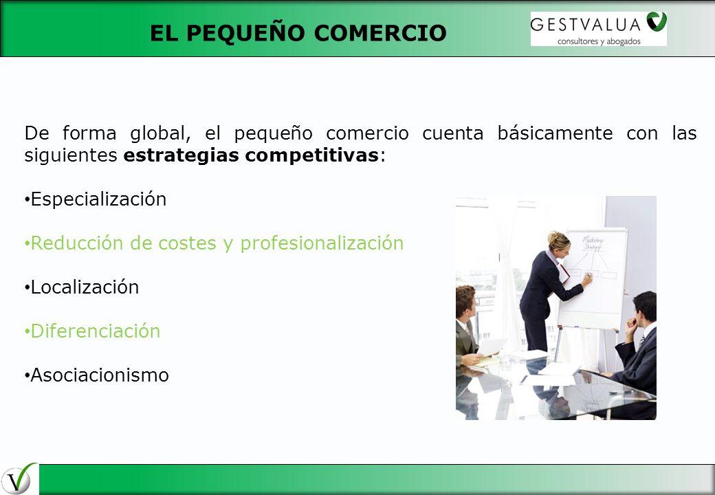 29/03/2017 EL PEQUEÑO COMERCIO. De forma global, el pequeño comercio cuenta básicamente con las siguientes estrategias competitivas:
