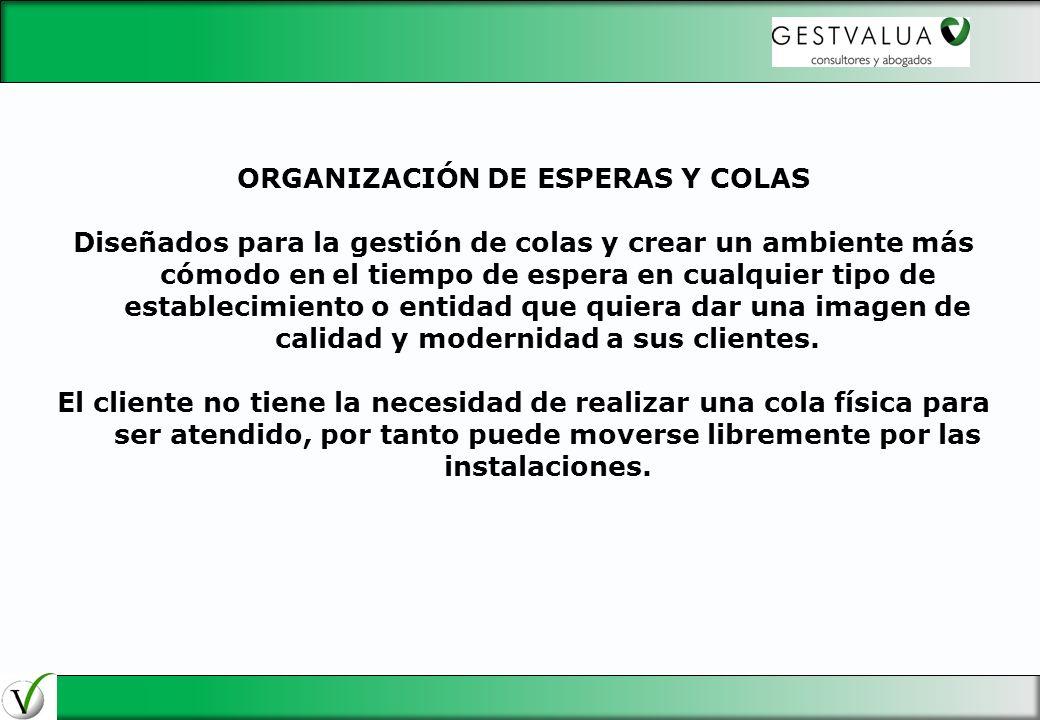 ORGANIZACIÓN DE ESPERAS Y COLAS