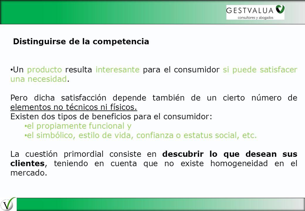 29/03/2017 Distinguirse de la competencia. Un producto resulta interesante para el consumidor si puede satisfacer una necesidad.