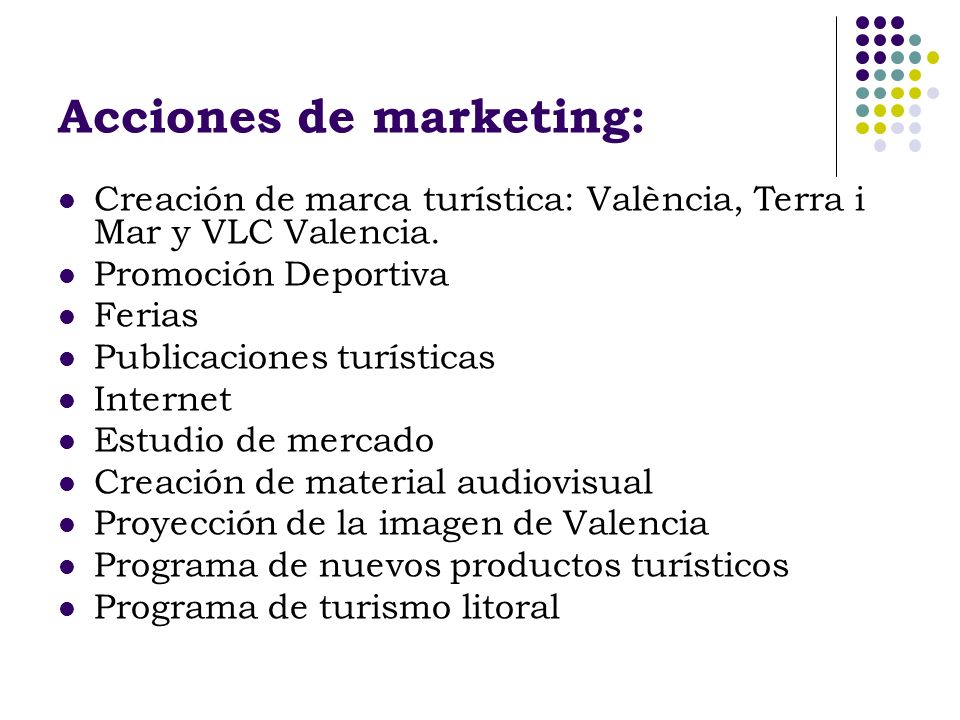 Acciones de marketing: