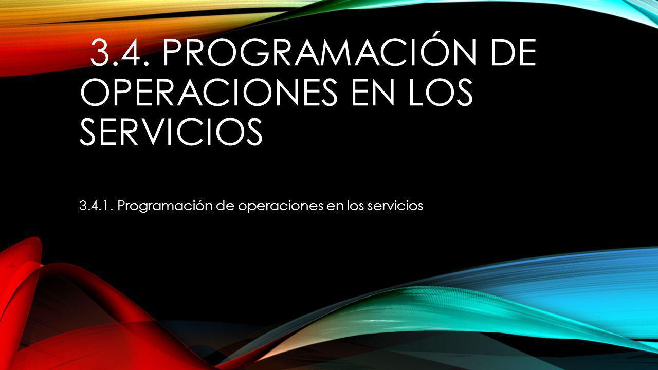3.4. Programación de operaciones en los servicios