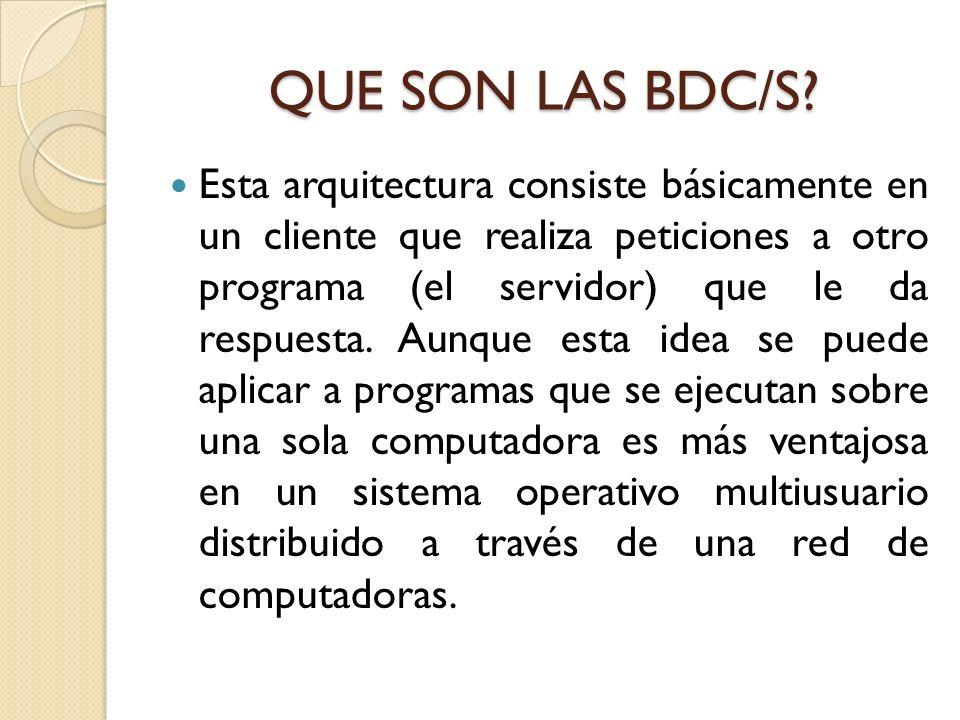 QUE SON LAS BDC/S