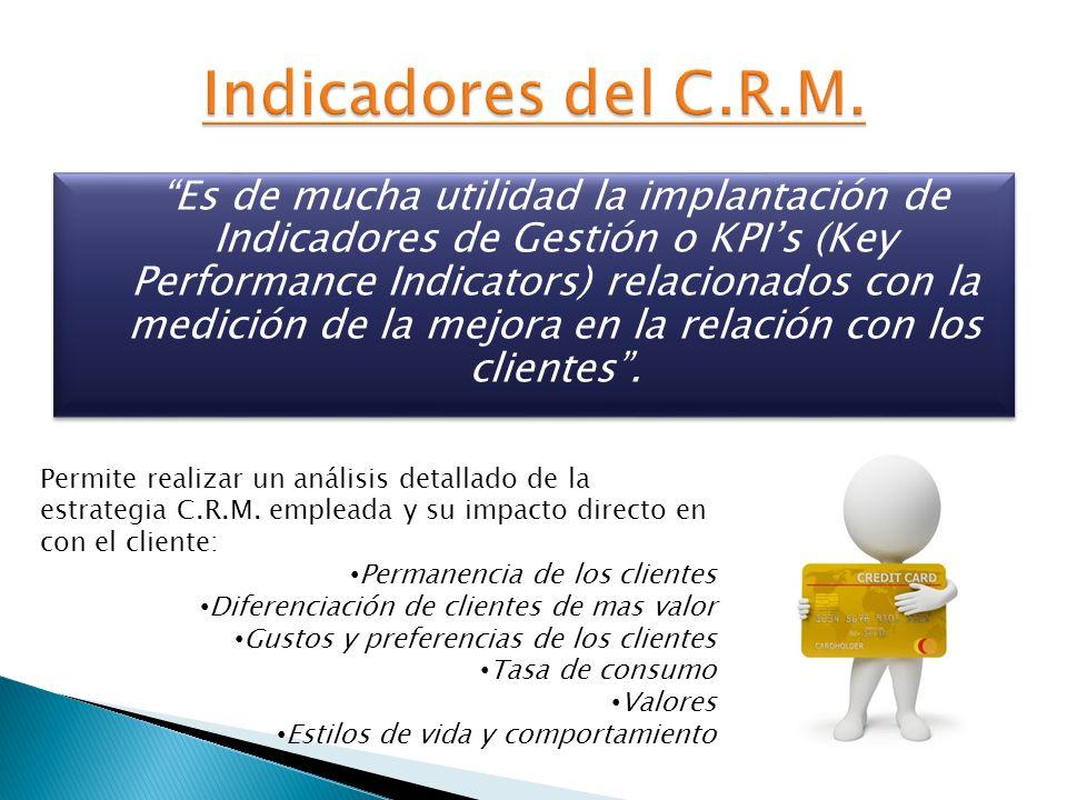 Indicadores del C.R.M.