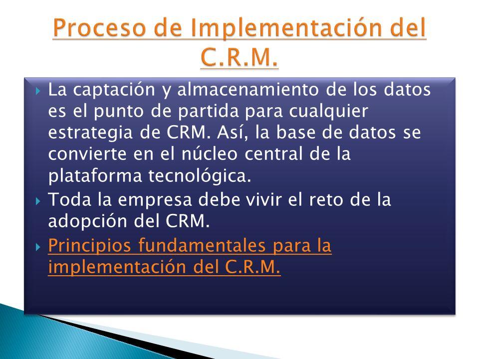 Proceso de Implementación del C.R.M.