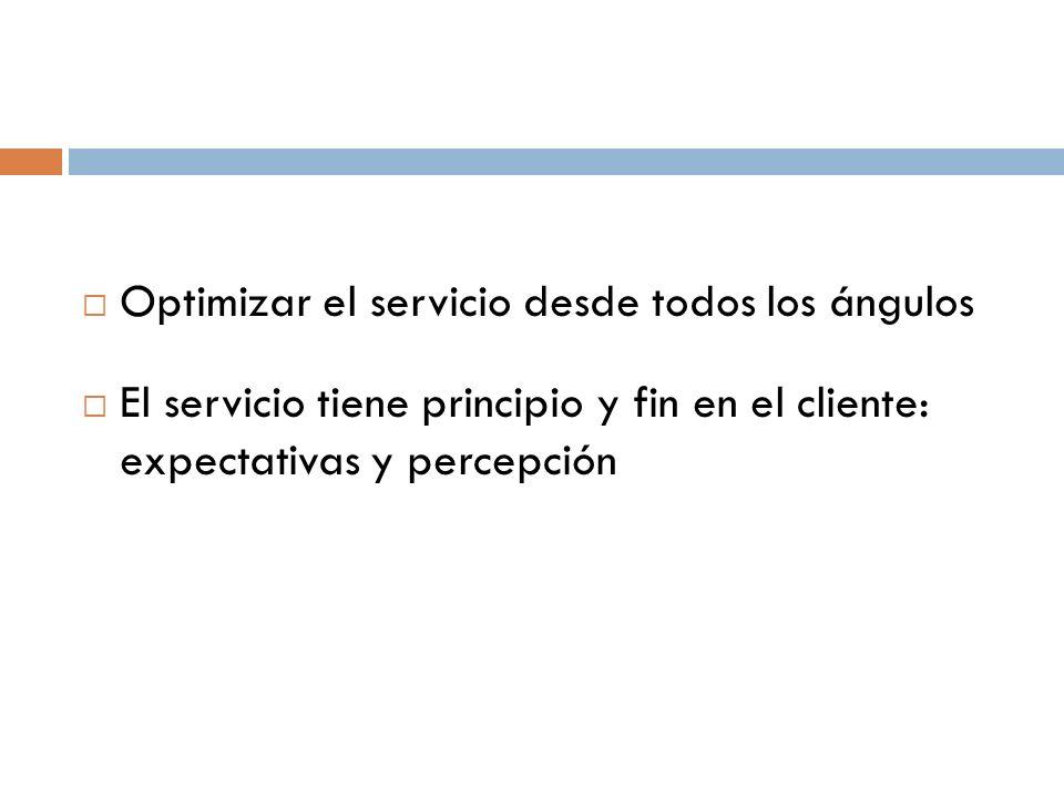 Optimizar el servicio desde todos los ángulos