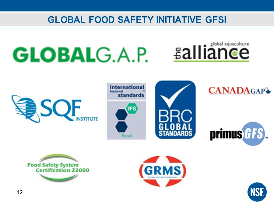 GLOBAL FOOD SAFETY INITIATIVE GFSI