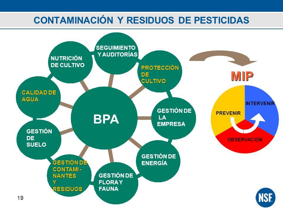 CONTAMINACIÓN Y RESIDUOS DE PESTICIDAS