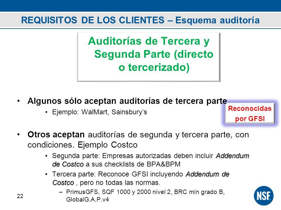 REQUISITOS DE LOS CLIENTES – Esquema auditoría