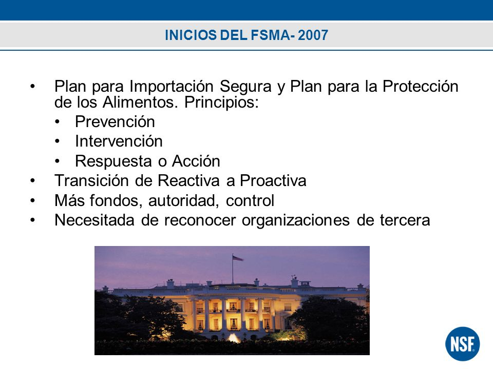 Transición de Reactiva a Proactiva Más fondos, autoridad, control