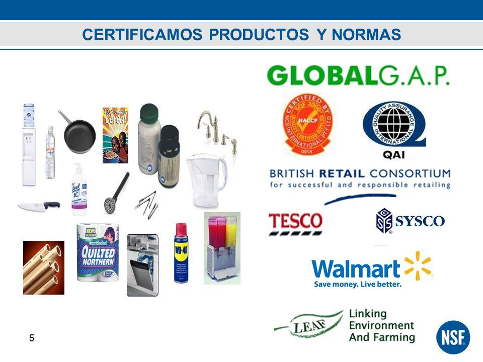 CERTIFICAMOS PRODUCTOS Y NORMAS