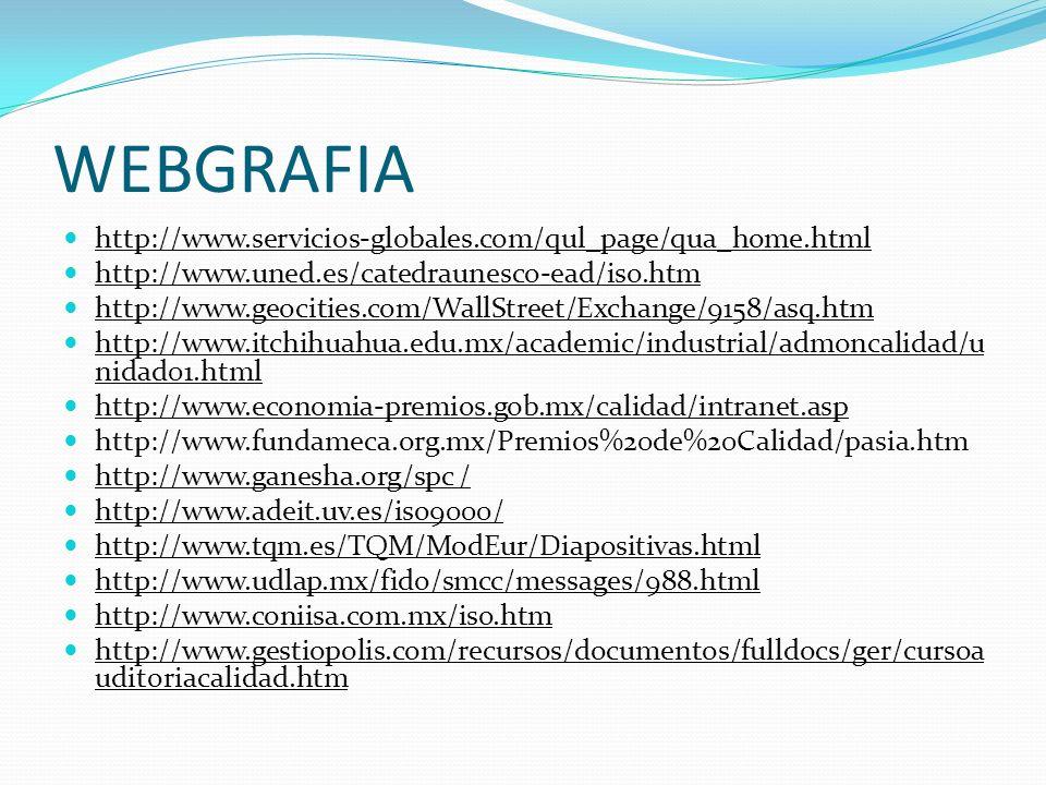 WEBGRAFIA http://www.servicios-globales.com/qul_page/qua_home.html