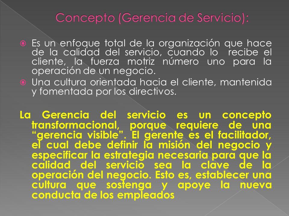 Concepto (Gerencia de Servicio):