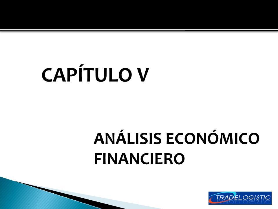CAPÍTULO V ANÁLISIS ECONÓMICO FINANCIERO