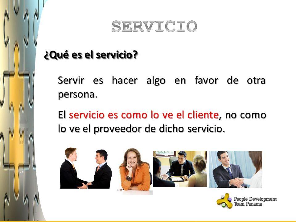 SERVICIO ¿Qué es el servicio