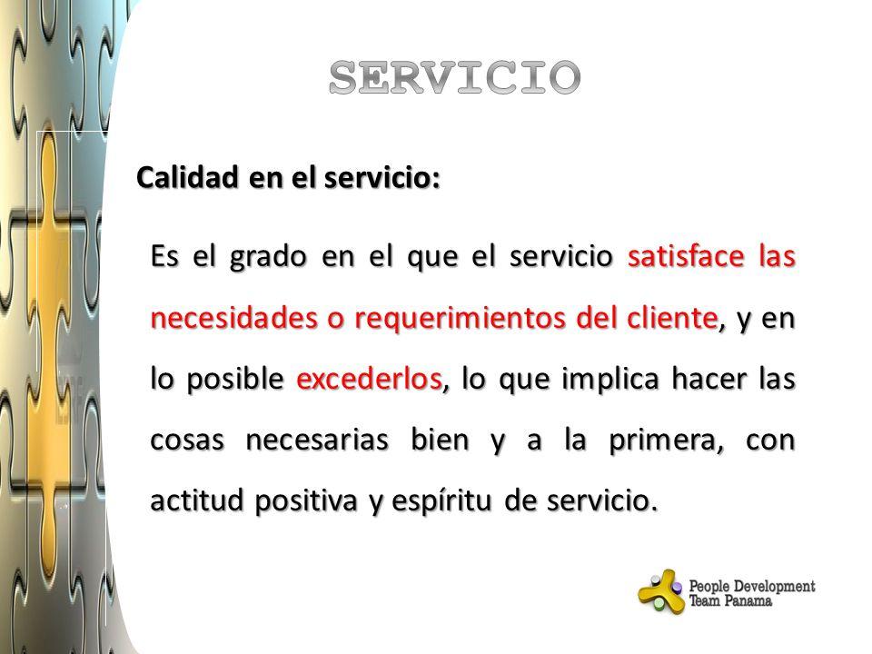 Calidad en el servicio: