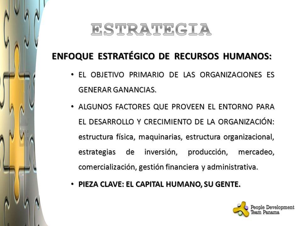 ESTRATEGIA ENFOQUE ESTRATÉGICO DE RECURSOS HUMANOS: