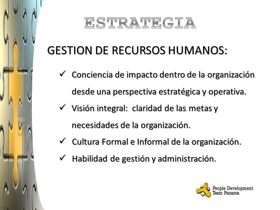 ESTRATEGIA GESTION DE RECURSOS HUMANOS: