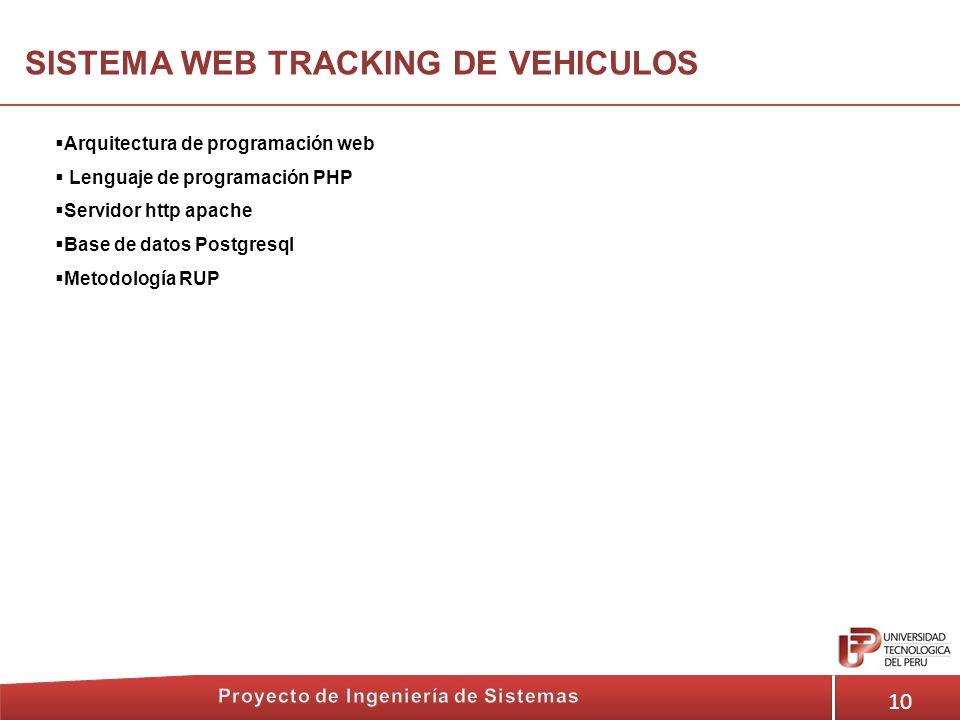 SISTEMA WEB TRACKING DE VEHICULOS