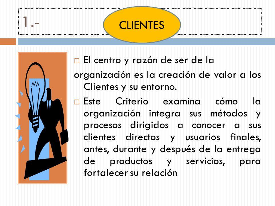 1.- CLIENTES El centro y razón de ser de la