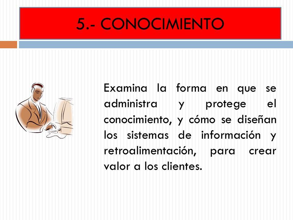 5.- CONOCIMIENTO